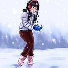 Snow Fight in Winter by yrya-chan