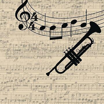 Trumpet - iPhone Cases by sophiaz