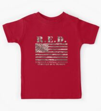 Red Friday Wear Red On Friday Remember Everyone Deployed American Soldier Kids Tee