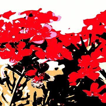Rote Blumen Garten von RanitasArt