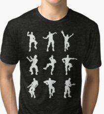 Fortnite Dances - black Tri-blend T-Shirt
