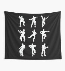 Fortnite Dances - black Wall Tapestry