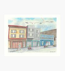 """Gus' Tackle Shop"" by Robin Galante Art Print"