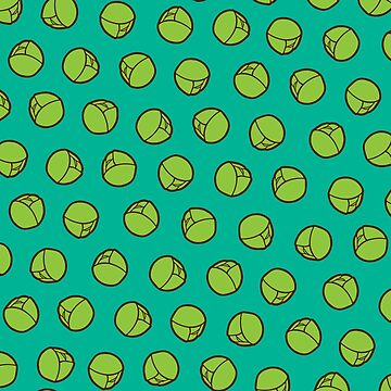 Brussel Sprouts Pattern in Turquoise by evannave