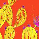 Orange Kaktus Garten von RanitasArt