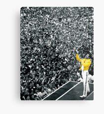 Fredddie Mercury Rock Concert Yellow Jacket Metalldruck