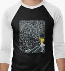 Fredddie Mercury Rock Concert Yellow Jacket Men's Baseball ¾ T-Shirt