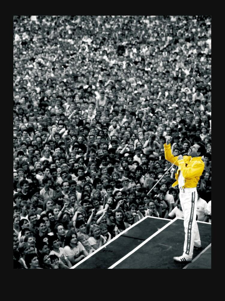 Chaqueta de Fredddie Mercury Rock Concert Yellow de Ferrazi