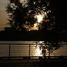 Sunset on the Potomac River, Washington DC by AnnDixon