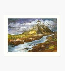 Lonely Mountain (borderless) Art Print