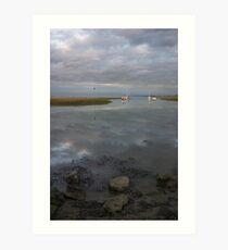 Medway Riverside Art Print