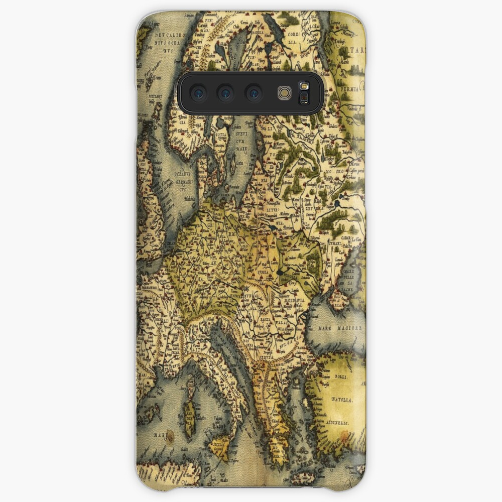 Ortelius Map of Europe 1572 Antique Cartography Exploration Case & Skin for Samsung Galaxy