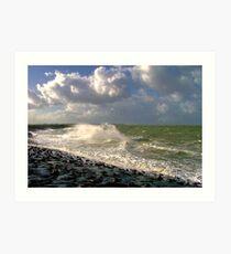 Water, Wind & Clouds Art Print