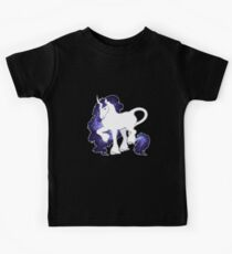 Die Mähne der Spiralsterne - Galaxy Unicorn - Kinder T-Shirt