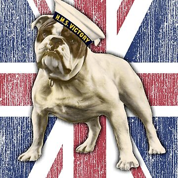 British BullDog Vintage WW2 Victory Poster with Distressed Union Jack by reapolo