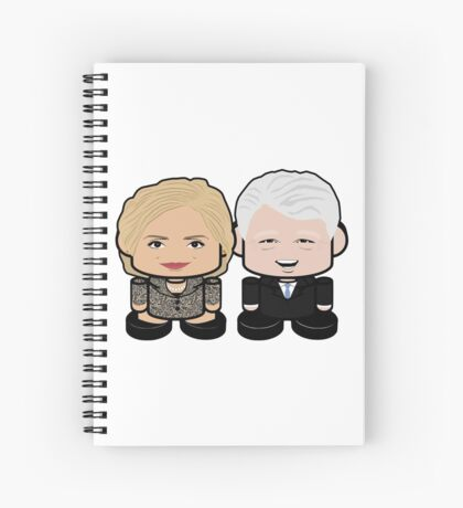 Hill & Bubba: Greater Together Politico'bot Toy Robots Spiral Notebook