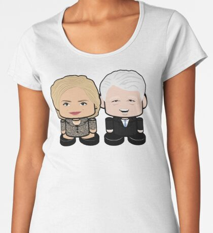 Hill & Bubba: Greater Together Politico'bot Toy Robots Women's Premium T-Shirt