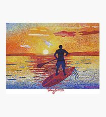 Stand up & Paddle boarder sunset  Photographic Print