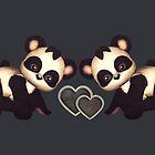 Baby Panda Love by dkatesmith
