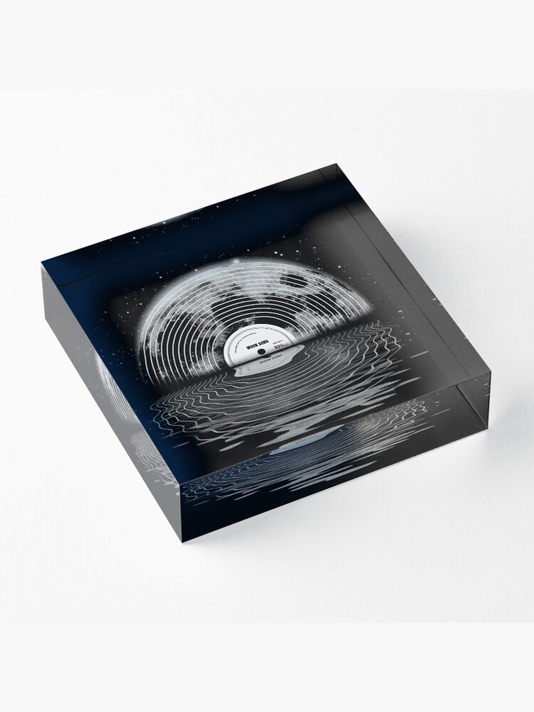 Alternate view of Moon Song Acrylic Block