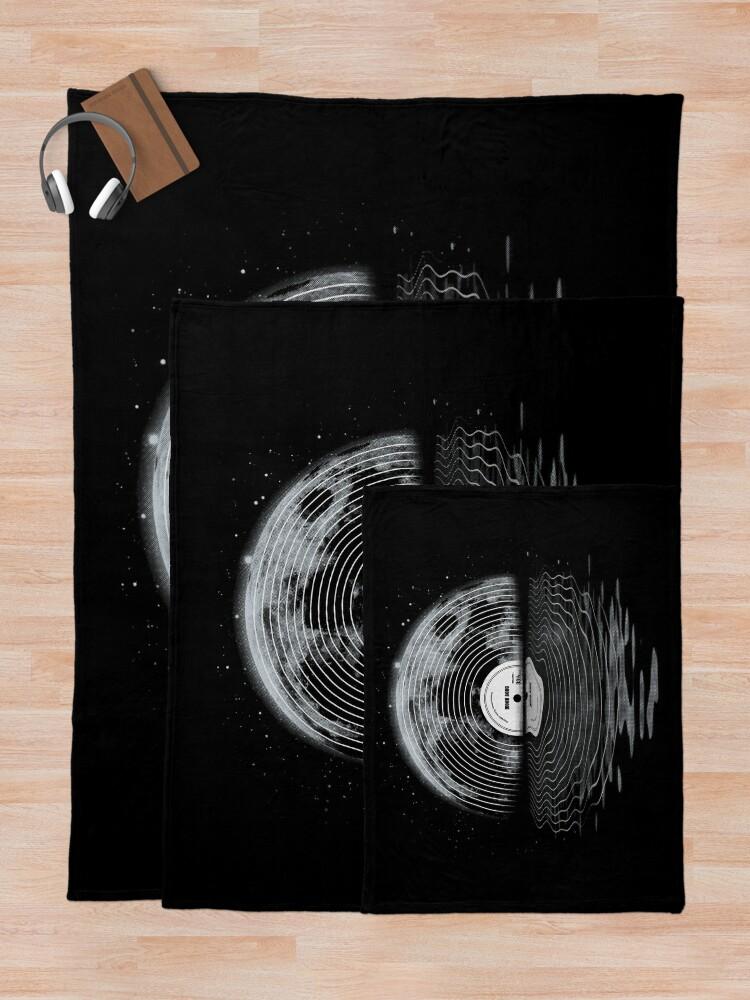 Alternate view of Moon Song Throw Blanket