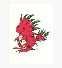 Dragon Fruit Dragon-White Art Print