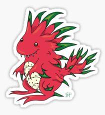Dragon Fruit Dragon-White Sticker
