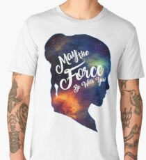 May the Force be With You - Carrie Fisher -Princess Leia Tribute Shirt Men's Premium T-Shirt