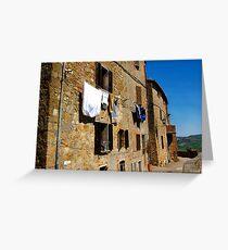 Pienza Italy  Greeting Card