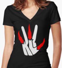 Kawhi Leonard Klaue Raptor Tailliertes T-Shirt mit V-Ausschnitt