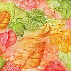 Watery Autumn Leaves by EverIris
