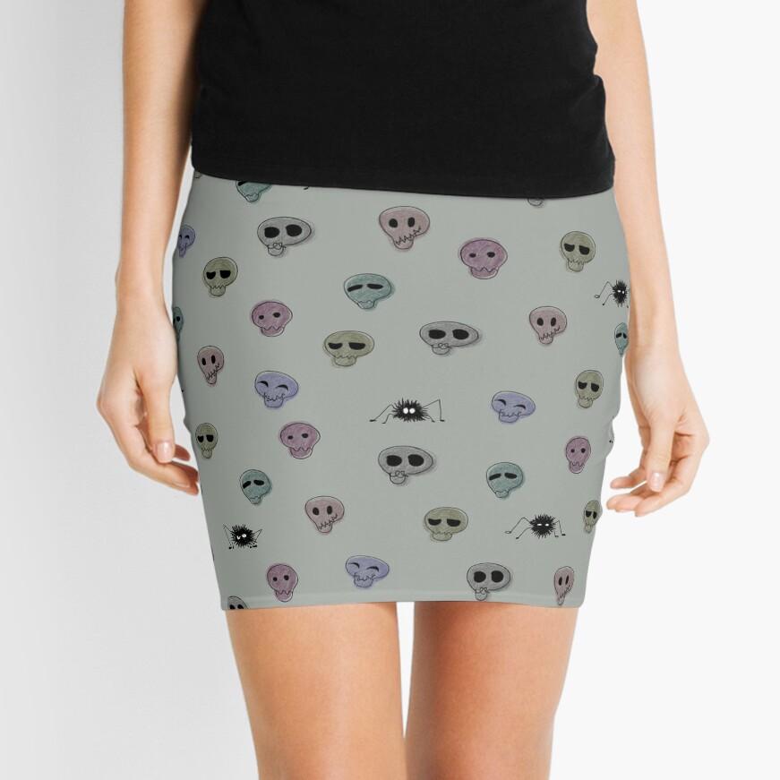 Calaveras, araña, graciosas Minifalda