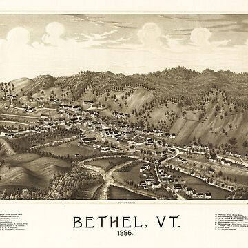 Aerial View of Bethel, Vermont (1886) by allhistory