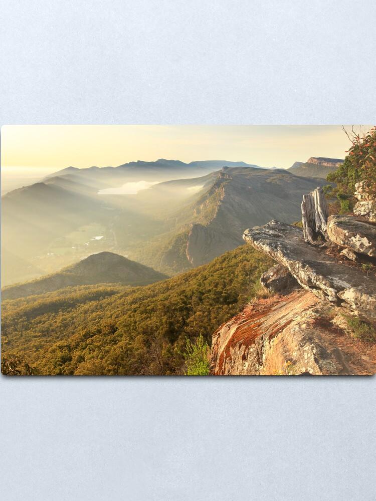 Alternate view of Boroka Lookout Dawn, Grampians, Australia Metal Print
