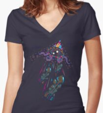 Drop Acid Not Bombs Women's Fitted V-Neck T-Shirt