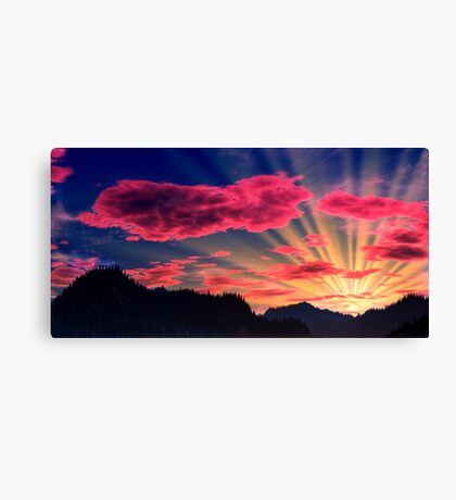 Northlands Sunset Canvas Print