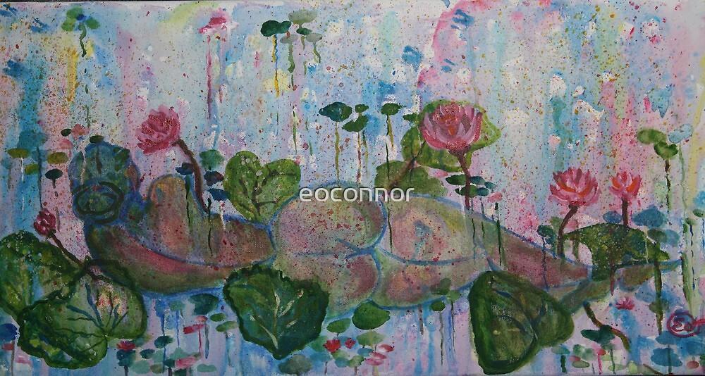 Awakening   10x20 acrylic on canvas  by eoconnor