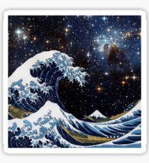 Pegatina Hokusai y LH95 - La gran ola de Kanagawa