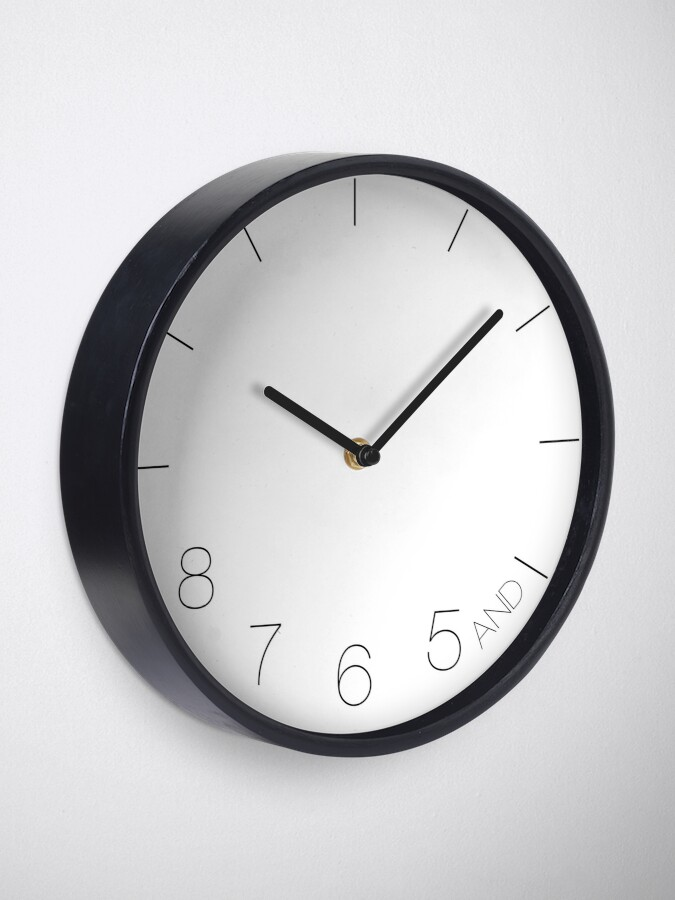 Alternate view of Dancer's Clock   Gifts for Dancers Clock