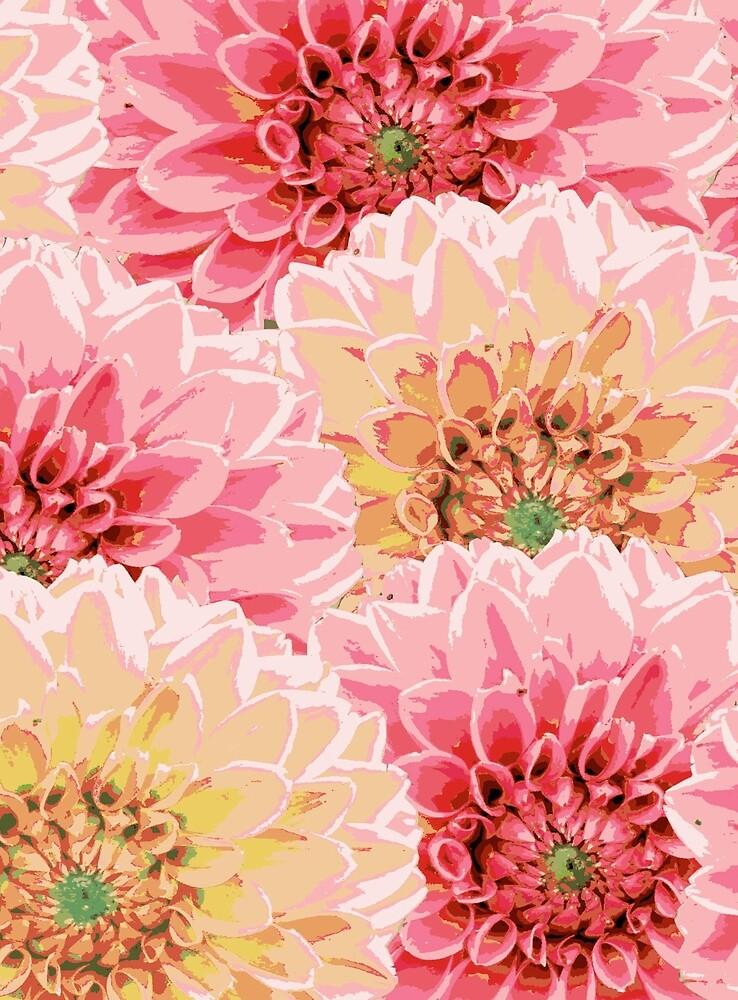 Große Pastel Blumen von RanitasArt