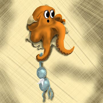 Escaping octopus by LindasDesign