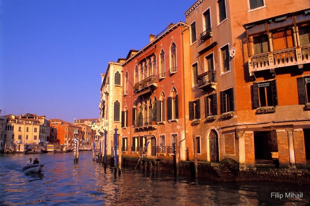 Venetian Summer Trip by Boat by Filip Mihail