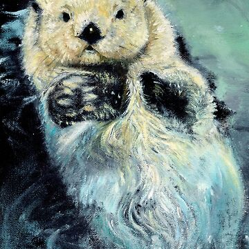 Sea otter painting by belettelepink