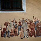 Emigrants, Wall Painting In Silz, Tirol, Austria by Elzbieta Fazel