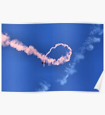 Skywriting in Pink Poster