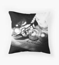 Grey Jewel Throw Pillow