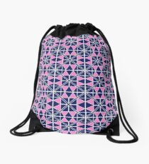 Navy Glow Pattern  Drawstring Bag