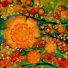 Blooms of summer's bliss 2 by lizzymasonart