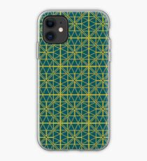 Green Triangle Pattern iPhone Case