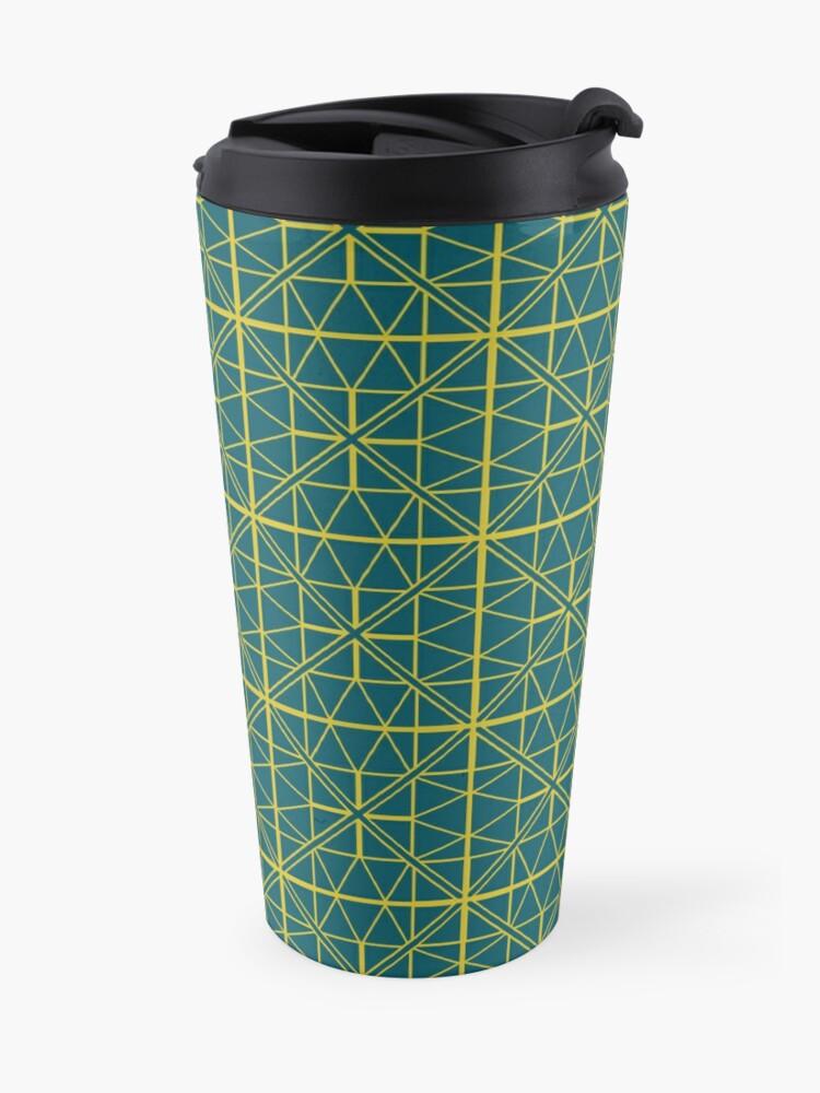 Alternate view of Green Triangle Pattern Travel Mug